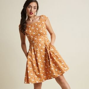 ModCloth Patterns Preferred A-Line Dress in 2X
